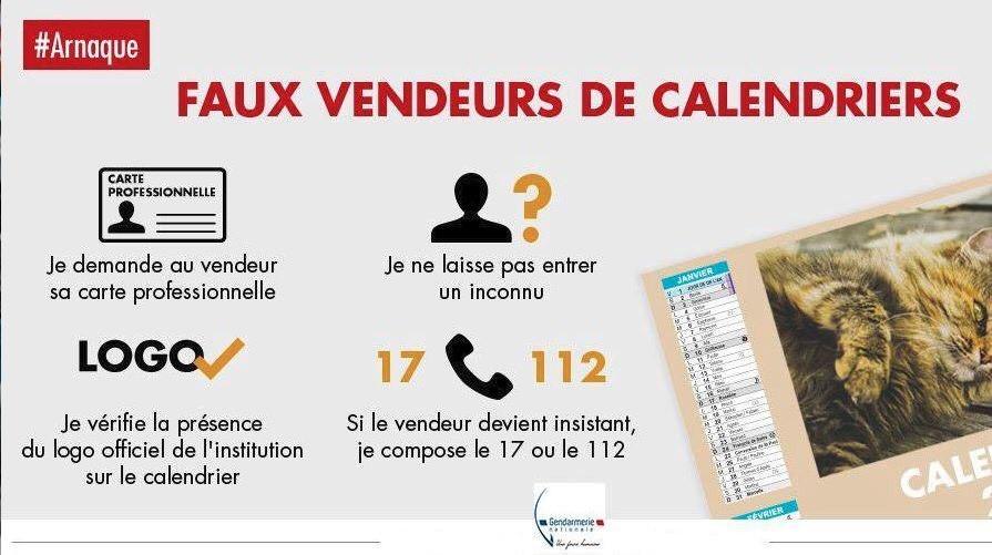 ARNAQUE : ATTENTION AUX VENDEURS DE FAUX CALENDRIERS