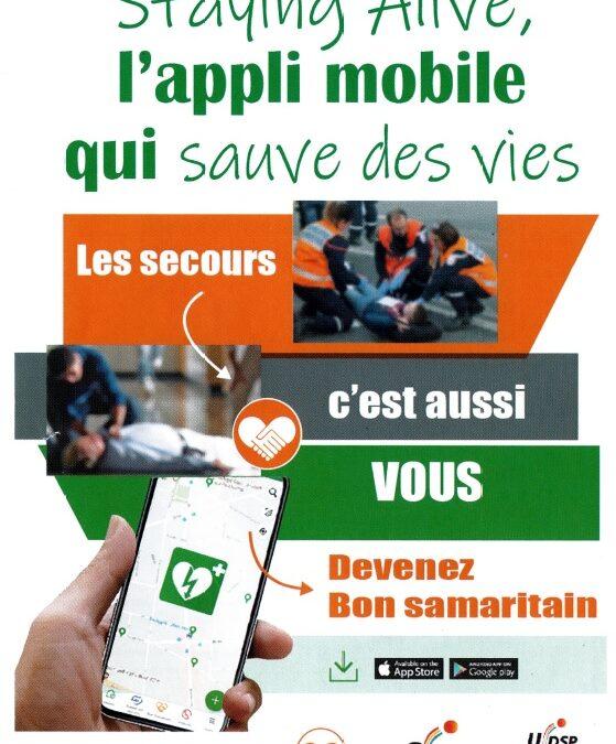 «Staying Alive» : l'application mobile qui sauve des vies !