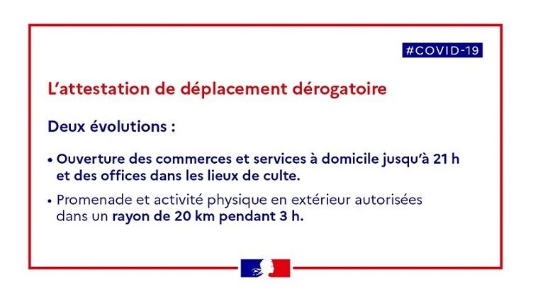 COVID-19 : Attestation de déplacement à partir du 28/11/2020